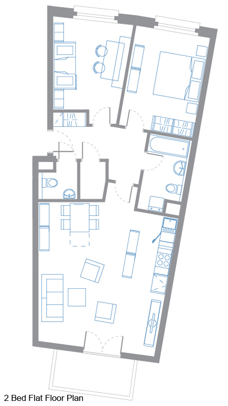 2 Bed Flat Floor Plan